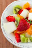 Fruit salad with strawberry Stock Image