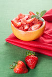 Fruit salad with strawberry and grapefruit Royalty Free Stock Image