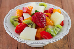 Fruit salad with strawberry stock photography