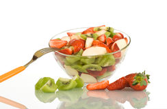 Fruit salad on the table Royalty Free Stock Images