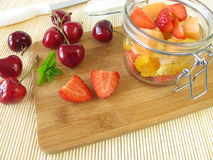 Fruit salad for takeaway Stock Image