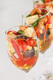 Fruit Salad (Thai Style). Fusion food from thailand, Fruit Salad with spicy-sour dressing Stock Photo