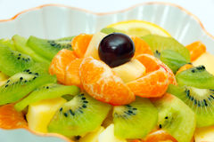 Fruit salad in vase Royalty Free Stock Photography