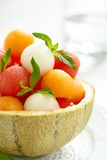 Fruit salad with watermelon and melon balls Royalty Free Stock Photography