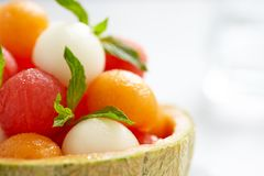Fruit salad with watermelon and melon balls Stock Photography