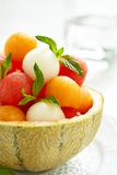 Fruit salad with watermelon and melon balls Stock Photos