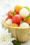 Fruit salad with watermelon and melon balls Royalty Free Stock Photo
