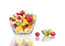Fruit salad. On white background Stock Photography