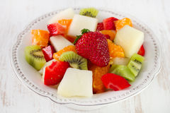 Fruit salad in dish Royalty Free Stock Photos