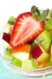 Fruit salad in white plate Stock Image