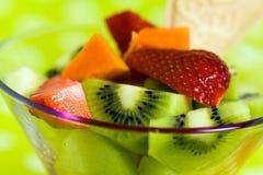 Fruit Salad With Kiwi,strawberry,papaya Royalty Free Stock Image