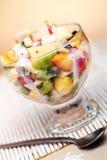 Fruit salad with yoghurt Royalty Free Stock Photos