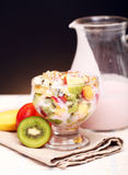 Fruit salad with yoghurt Stock Image