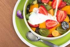 Fruit Salad with Yogurt Royalty Free Stock Image