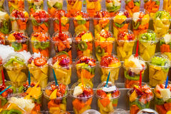 Fruit salads for sale Royalty Free Stock Photo