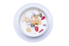 Fruit salads in Yogurt, breakfast Stock Photography