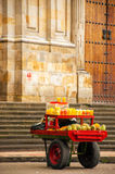 Fruit for Sale on a Cart. Fruit for sale in the Plaza de Bolivar in Bogota, Colombia Royalty Free Stock Image