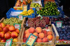 Fruit for sale, Heraklion. Royalty Free Stock Photography