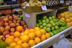 Fruit for sale in the market royalty free stock photos