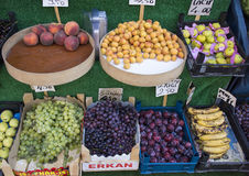 Fruit for sale market in Istanbuhl royalty free stock image