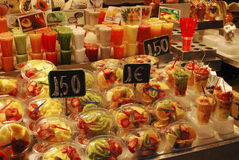Fruit for sale on market stall. Barcelona Royalty Free Stock Photos