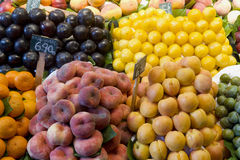 Fruit for sale on a market stall Stock Images
