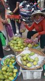 fruit saler in Vietnam Stock Afbeeldingen
