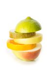 Fruit sandwich. Isolated. Stock Images