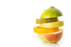 Fruit sandwich. Isolated. Royalty Free Stock Photos