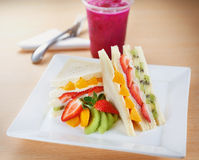 Fruit Sandwich Stock Photography
