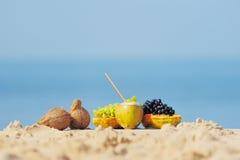 Fruit on the sandy beach Stock Photography
