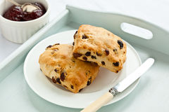 Fruit scones Royalty Free Stock Photography
