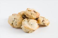 Fruit scones on white background Royalty Free Stock Photo