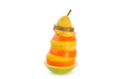 Fruit sculpture Royalty Free Stock Images