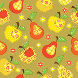 Fruit seamless Stock Images