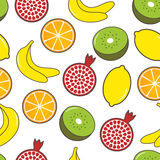 Fruit seamless background. The colorful fruit seamless background Stock Image