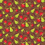 Fruit seamless background Royalty Free Stock Images