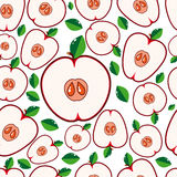 Fruit seamless background - Apples Stock Photos
