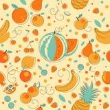 Fruit seamless background Royalty Free Stock Photos