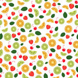 Fruit seamless background. Vector Stock Image