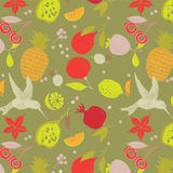 Fruit seamless pattern Stock Photography