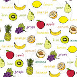 Fruit seamless pattern Royalty Free Stock Photography