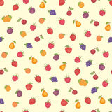 Fruit seamless pattern Stock Photos