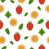 Fruit seamless pattern. Hand drawn illustration. Royalty Free Stock Images