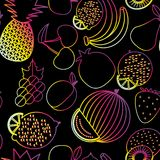 Fruit seamless pattern. The image of fruits and berries Royalty Free Stock Image