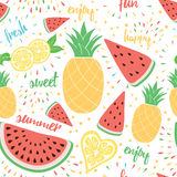 Fruit seamless pattern. Royalty Free Stock Image