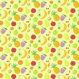 Fruit seamless pattern, vector background with Stock Images