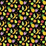 Fruit seamless pattern, vector background with Stock Image