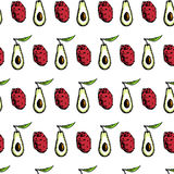 Fruit seamless pattern Stock Images