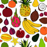 Fruit. Seamless vector pattern Stock Photos